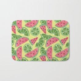 Watermelon Limeade Pattern Bath Mat