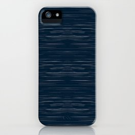 Meteor Stripes - Dark Denim iPhone Case