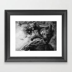 groot and rocket Framed Art Print