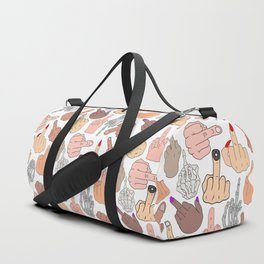 Middle Fingers Duffle Bag