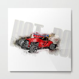 hot rod art print Metal Print