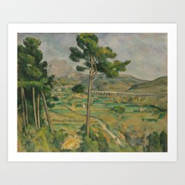 Mont Sainte-Victoire and the Viaduct of the Arc River Valley Art Print