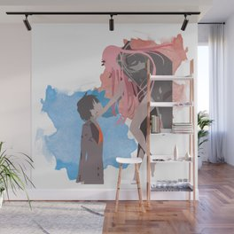 DARLING in the FRANXX Minimalist (Hiro and Zero Two) Wall Mural