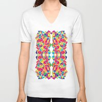 kaleidoscope V-neck T-shirts featuring Kaleidoscope by Flo Thomas