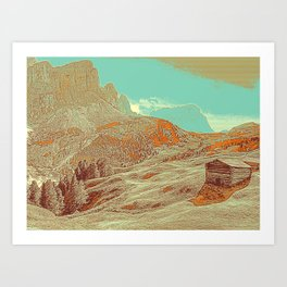 Dolomites Mountains South Tyrol Alpine Italy 4 Art Print