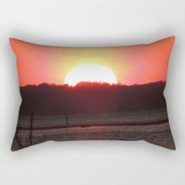 Sunset over water Rectangular Pillow