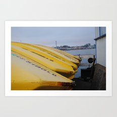 Yellow Boats Art Print