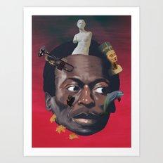 Miles totems around his head Art Print