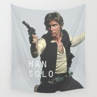 han solo Wall Tapestries featuring Han Solo / Star / Wars by Earl of Grey