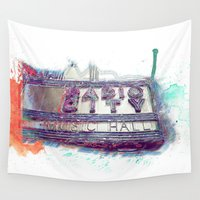 radio Wall Tapestries featuring Radio City Music Hall by KatDonovanPhotography
