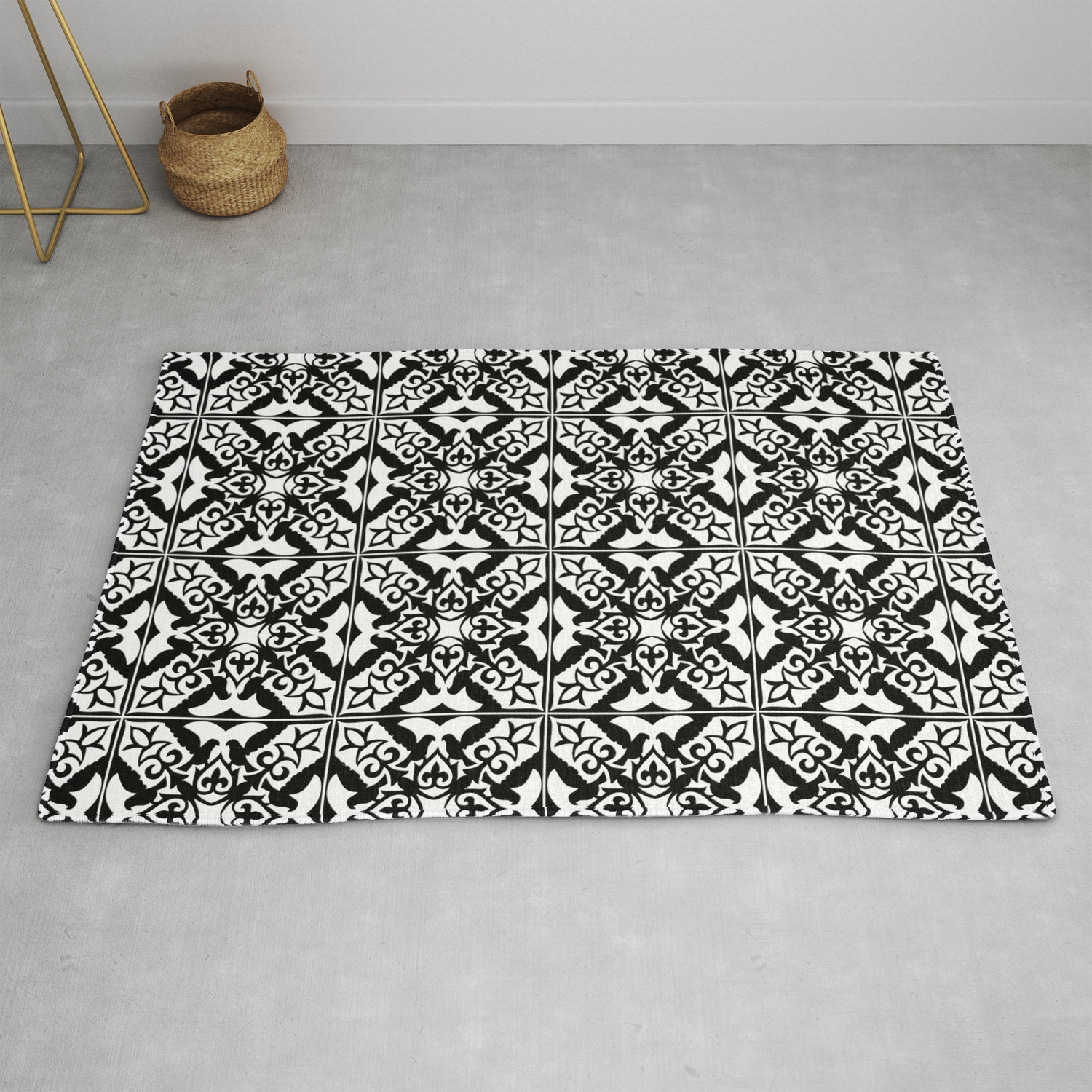 Moroccan Tile Pattern In Black And