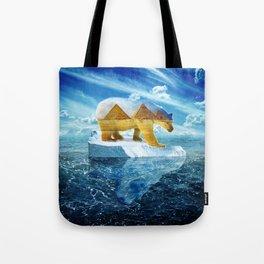 A Polar Bear Dreams of the Desert Tote Bag