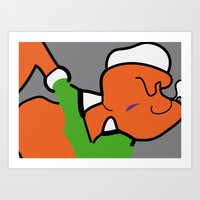 popeye Art Prints featuring POPeye by Stefano Maccarelli