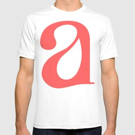 lowercase a T-shirt