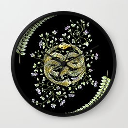 Neverending Story Inspired Auryn Garden in Black Wall Clock