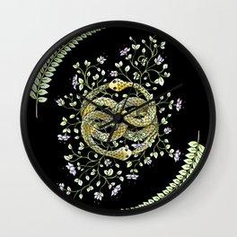 Neverending Story Inspired Auryn Garden in Black Wall Clock