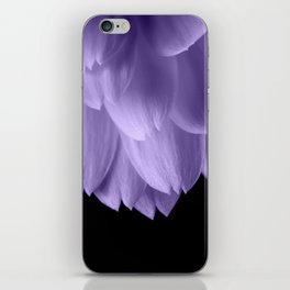 Ultra violet purple flower petals black iPhone Skin