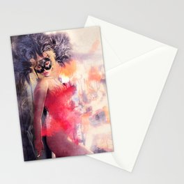 Painted Fan Dancer - Dressing Room Break Stationery Cards