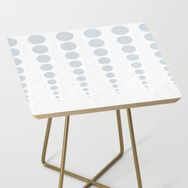 Up and down polka dot pattern in white and a pale icy gray Side Table