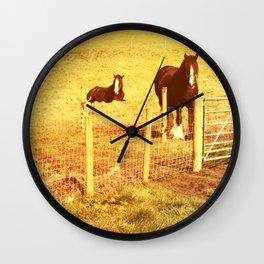 Vintage Horses Wall Clock