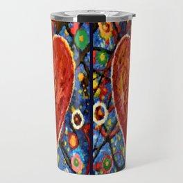 Abstract Painted Heart Travel Mug