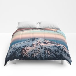 Mountain Sunset - Nature Photography Comforters