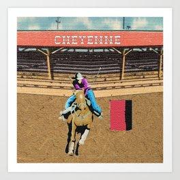 Cheyenne Rodeo Cowgirl Barrel Racing Kunstdrucke