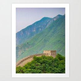 Great Wall Of China Tower Art Print