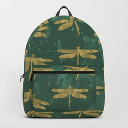 Golden Dragonflies Backpack