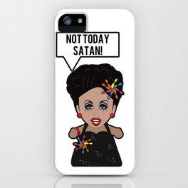 Bianca - Not Today Satan iPhone Case
