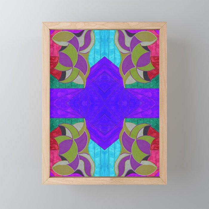 七 (Qī) Framed Mini Art Print