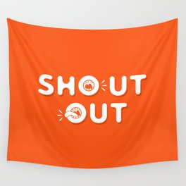 Shout Out Fun Typography Wall Tapestry