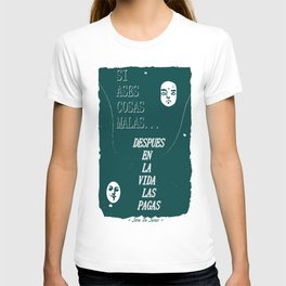SI ASES COSAS MALAS.. (OLIVE GREEN) T-shirt