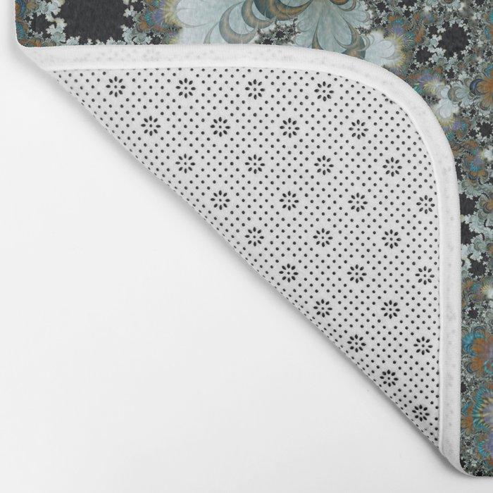 Snow Moons Fractal Bath Mat
