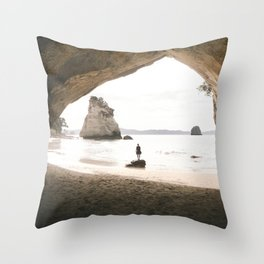 Cathedral Cove Throw Pillow