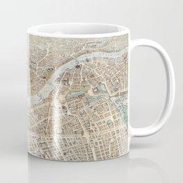 Vintage Pictorial Map of London (1851) Coffee Mug