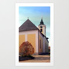 The village church of Putzleinsdorf I | architectural photography Art Print