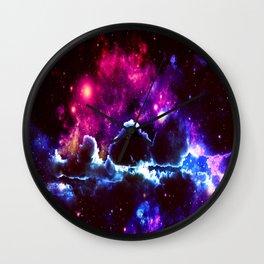 Galaxy Clouds Dark & Colorful Wall Clock
