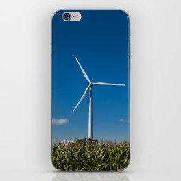 Windmill in a cornfield iPhone Skin