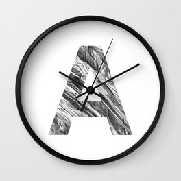The Letter A- Stone Texture Wall Clock