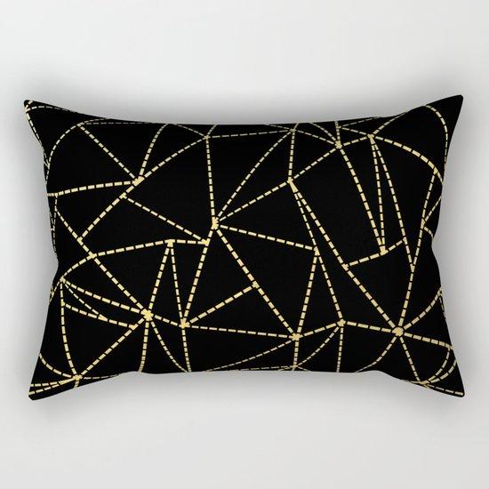 Ab Dotted Gold Rectangular Pillow