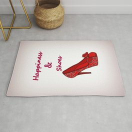 Happiness And Shoes Rug