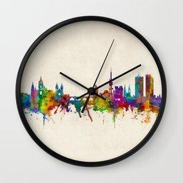 Prague (Praha) Czech Republic Skyline Wall Clock