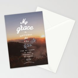 2 Corinthians 12:9 Stationery Cards