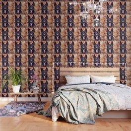 The Black German Shepherd Wallpaper