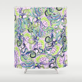 Riptide_meltdown Shower Curtain