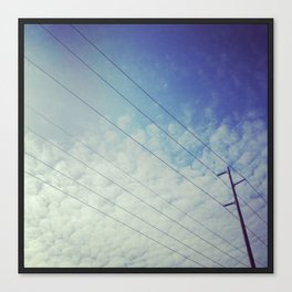 Wires in the Sky Canvas Print