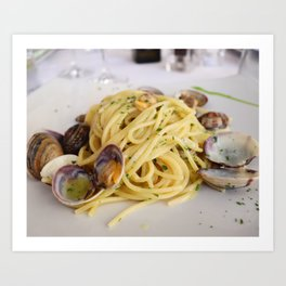 Linguine with Clams Art Print
