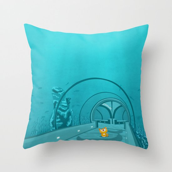 Gluttony - When the eye is bigger than the belly Throw Pillow