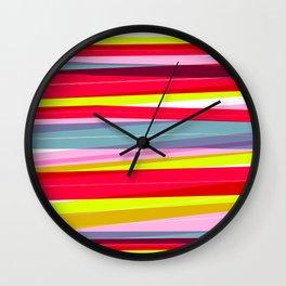 Rainbow Stripe 01 Wall Clock